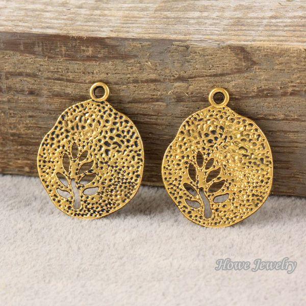 30 pcs Vintage Charms tree Pendant Antique gold plated Fit Bracelets Necklace DIY Metal Jewelry Making R001