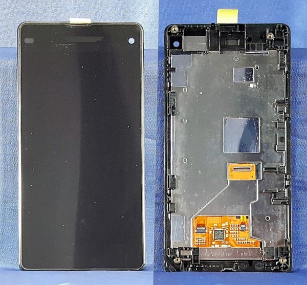 SCHERMO DISPLAY LCD TOUCH SCREEN SONY XPERIA Z1 COMPACT D5503 FRAME NERO BLACK