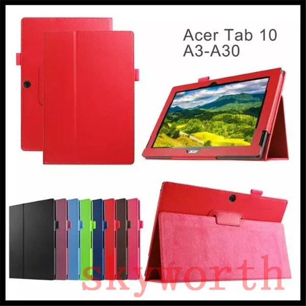 Leather Folio Flip Case Pouch for Acer Iconia Tab One 10 A3-A20 A30 B1-750 B1-820 Talk S A1-724 Magnetic
