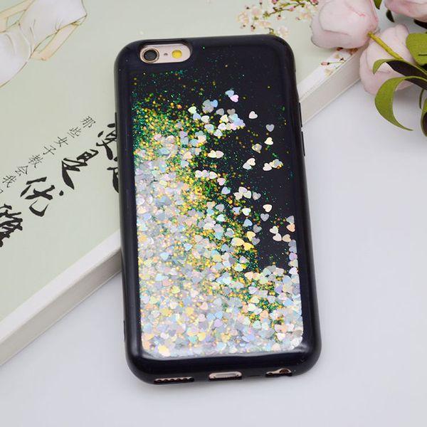 For LG Tribute Dynasty X Power 2 LV7 MS320 X Style LS676 K200 Vful Black  Cover Oil Liquid Bling Bling TPU Case Design Cell Phone Case Heavy Duty  Cell