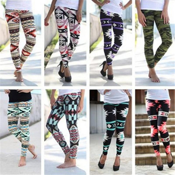 Factory price women leggings Hot Lady Leggings winter leggings women prints tights women pants 9 designs ouc2017