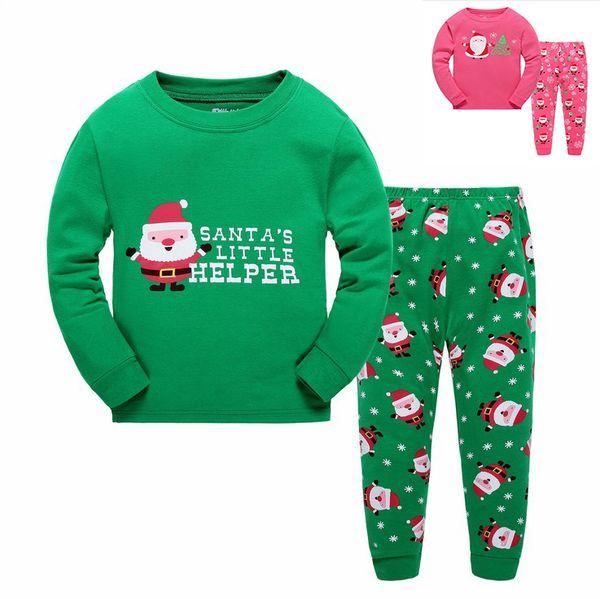 Wholesale Fashion Kids Christmas Sleeping Dress Boys Girls Pajamas