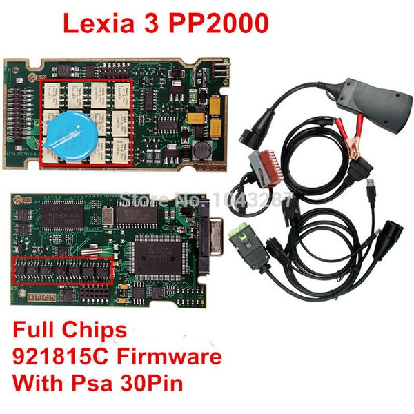 Großhandels-Neueste Diagbox 7.82 Lexia 3 PP2000 Diagnosewerkzeug Lexia3 V48 PP2000 V25 Volle Chips 921815C / Firmware + Psa 30Pin DHL Frei