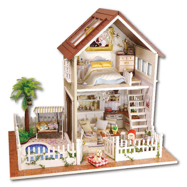 Wholesale DIY Cottage Paris Apartment Handmade Birthday Gift Assembled Toys  Creative House Model Villa DIY Doll House. Wholesale Diy Cottage Paris Apartment Handmade Birthday Gift