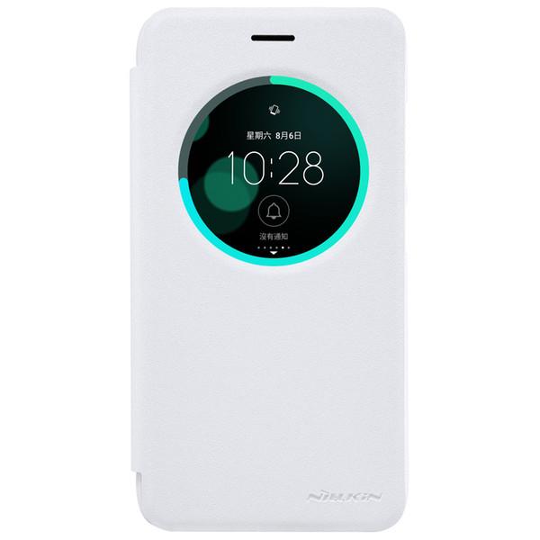Caja de Zenfone 3, Nillkin Sparkle Flip Leather con Smart View Ventana Caja de plástico duro Back Phone Phone para Asus Zenfone 3 ZE552KL / ZE520KL
