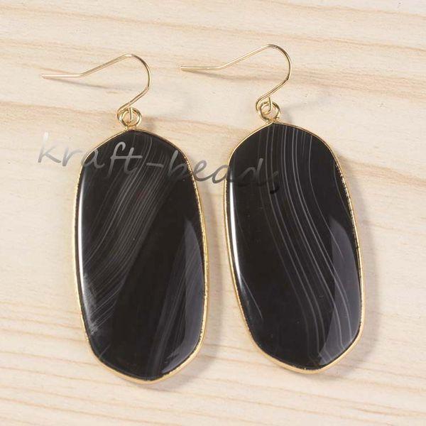 Stripe Black Agate