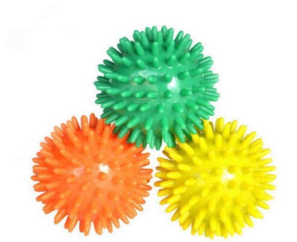 New Lovely Health Care Ball 6CM 1PCS Spiky Stress Relief Ball Body Pain Relief Massager Hand Exerciser Foot Exercise