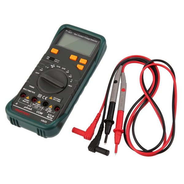 Nuovo multimetro digitale di alta qualità AC DC Tester di frequenza di tensione Rileva la continuità Black Hot