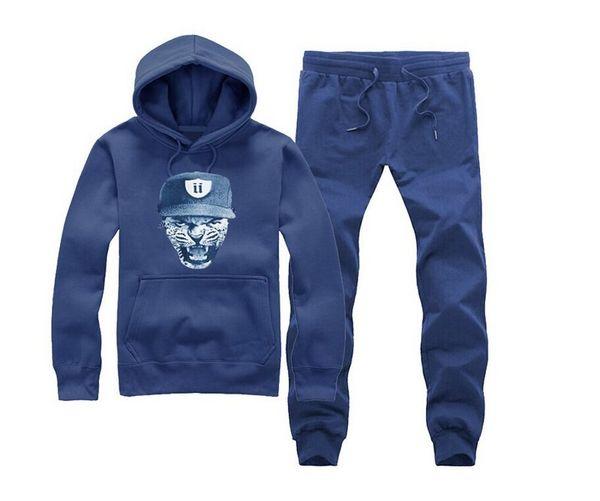 free shipping s-5xl Autumn Winter Fashion Men Letter o-neck Hoodies +pants Male Casual Sweatshirt Unkut sweat