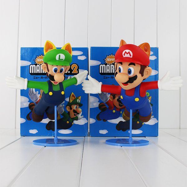 22cm Super Mario Bros 2 Luigi Mario Pvc Action Figure Collectable Model Toy For Kids Gift Retail Canada 2019 From Emma88 Cad 17 64 Dhgate Canada
