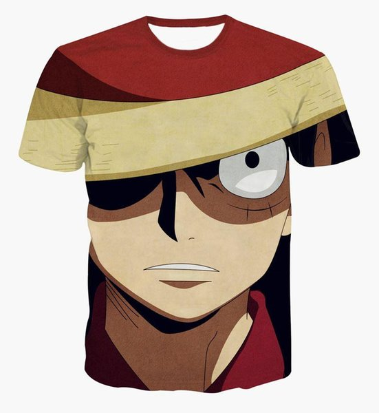 New fashion Japanese anime One Piece character Monkey D. Luffy 3d t shirt women/men harajuku cartoon t shirts casual tees tops