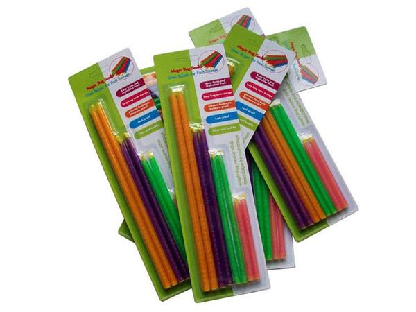 100Packs хороший замок Magic Bag Sealer Stick уникальные уплотнительные стержни отличный помощник для хранения продуктов питания уплотнение Cllip лагерь клип