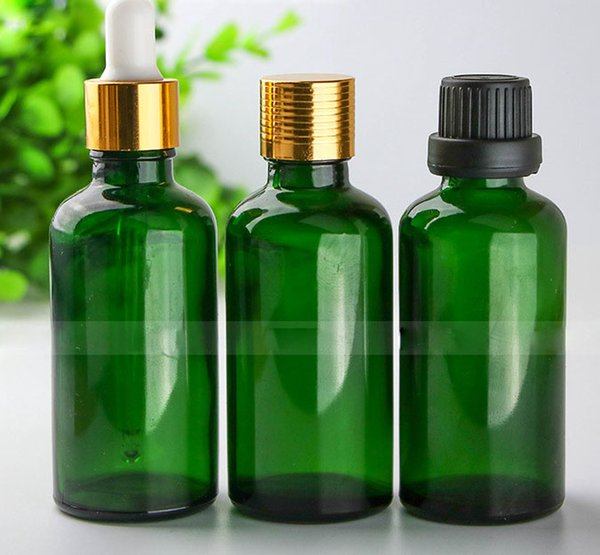 Wholesale 88*4 Total 352Pcs Glass E Liquid Dropper Bottles 50ml Green Glass Essential Oil bottles Best Selling 50ml Glass Container Pack