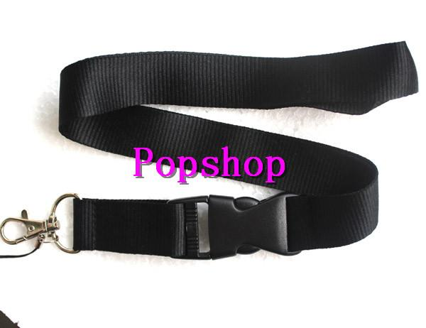 top popular Hot Sale!Free shipping Solid Black Color Lanyard Neck Strap Lanyard WHOLESALE fukuan 2019