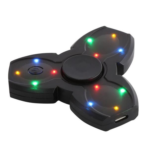 LED Bluetooth Lautsprecher Musical Hand Zappeln Spinner USB Lade Fingerspitze Gyro Spinner Anti Stressabbau Kinder Erwachsene Spielzeug Geschenke