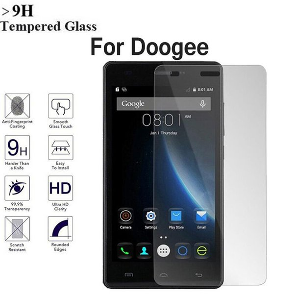 Wholesale-Ultra Thin 0.26mm  Screen Protector Film Tempered Glass For DOOGEE X5 Pro X6 For Homtom ht3 ht6 ht7 Explosion proof film