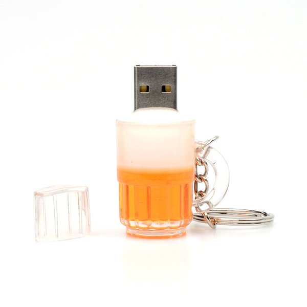 New Cartoon Beer Bottle USB 2.0 Memory Flash Stick Pen Drive Genuine 8GB Full Real Capacity 100% New High Speed