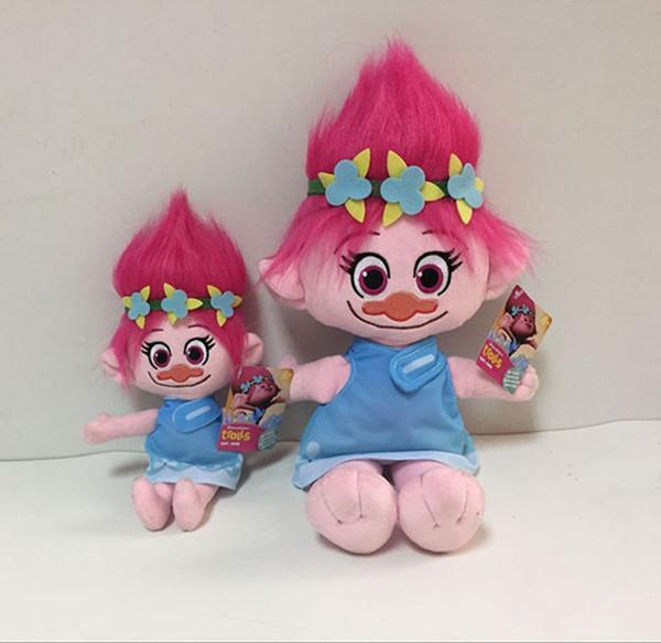 top popular Free EMS 9.2 Inch Trolls Poppy Branch Plush dolls toys 23cm 2 style children lovely cartoon Poppy Biggie Plush dolls toy B001 2019