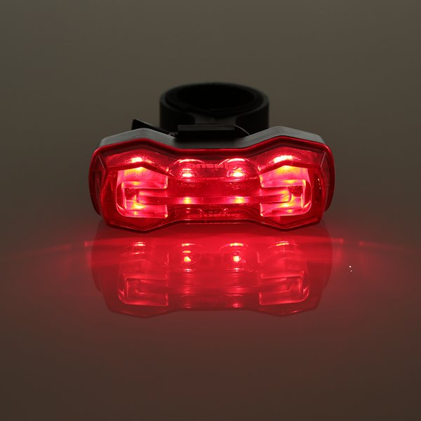Hot Sale 4 LED Cycling Bicycle Bike Taillight Bicycle Rear Lamp Warning Lamp Flash Alarm Light with Seatpost Clamp Bike Lights