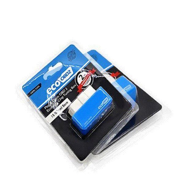 Économie EcoOBD2 Boîte de syntonisation de puce, couleur bleue, 15% économie de carburant Eco OBD2 pour voitures diesel Couples de puissance plus Interface moteur Eco OBD Diesel