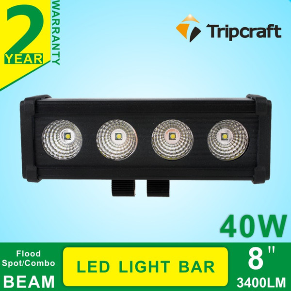 4pcs * 10W 40W LED Light Bar Offroad Work Light Bar per camion 4X4 SUV Car Motorcycle Driving Headlight