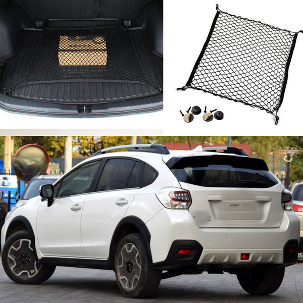 1pcs Pour Subaru XV Auto Tronc Arrière Cargo Organizer Stockage Net Horizontal Nylon De Sécurité Net DIY