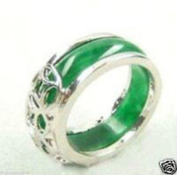 bague argent jade verte
