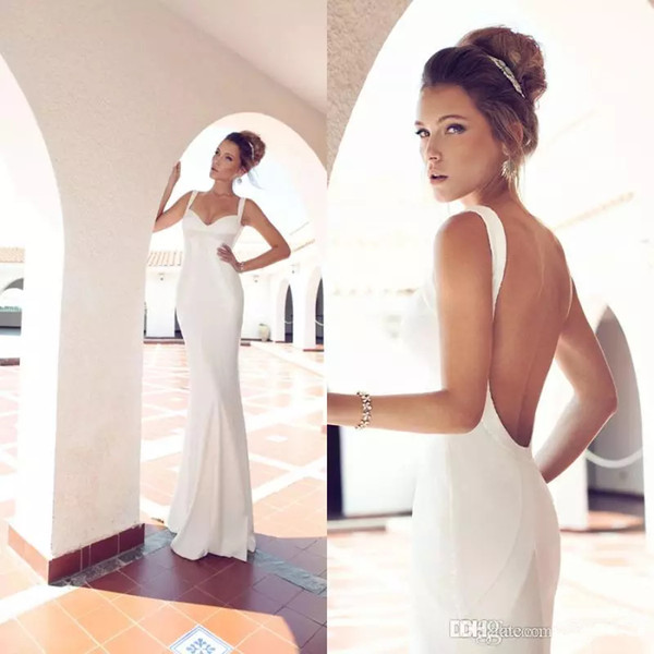 Venta al por mayor Julie Vino Beach vaina vestidos de novia sexy ...