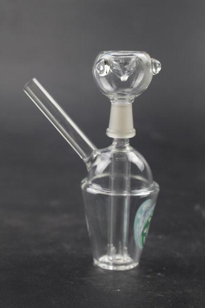 Bong! Yeni mini cam bong 10 cm boyunda su borusu petrol sondaj yağı rig 10mm ortak cam su boruları marka bongs 209