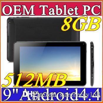 """best selling 2016 Cheapest 9 inch 9"""" Quad Core camera Quad Core u Android 4.4 KitKat Tablet PC 512MB 8GB 1.2GHz Allwinner A33 Bluetooth A-9PB"""