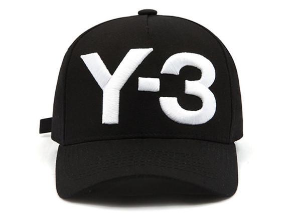 Y-3 Black Men Baseballmütze Frauen Curved Snapback Strapback Sport Golf Hip-Hop Caps Einstellbare Outdoor Wandern Camping Sommer Baseballkappe Hut
