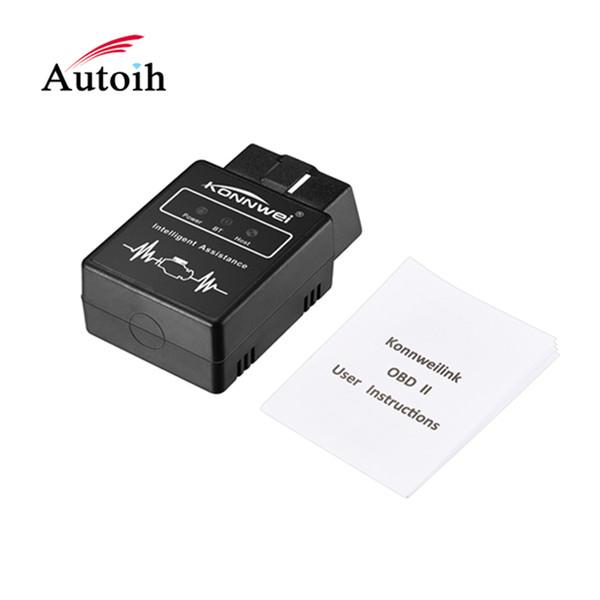 Konnwei KW912 Car Code Reader Bluetooth OBDII Auto Scanner Adapter Scan Tool Error