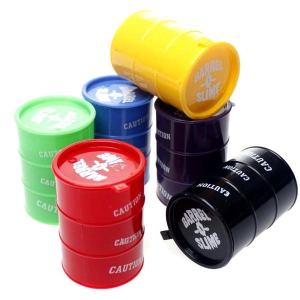 Funny Kids Paint Oil Slime Toy Barrel O Slime Prank Trick Joke Gag Of Toys Birthday Gift Play for Children Free DHL