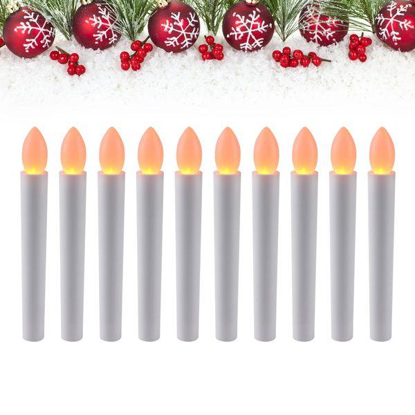 Yeni Tasarım Sıcak Beyaz Elektronik Alevsiz Led Mumlar Işık Doğum Günü Düğün Armatürleri Yeni Yıl Noel Ağacı Dekorasyon Ev Için