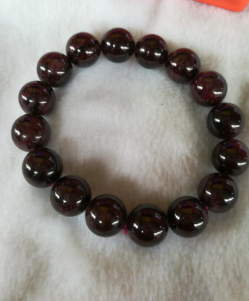 Chinese natural wine red garnet bracelet with free shipping