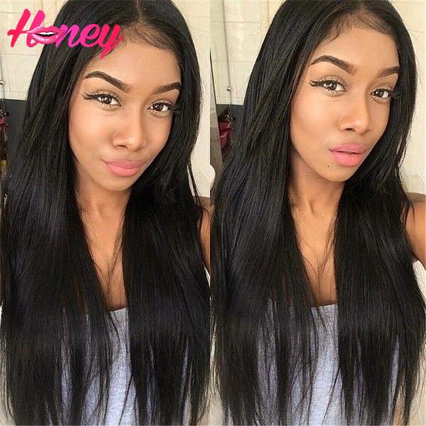 Индийские девственные волосы 7а класса человеческих волос полный кружева человеческих волос парики прямые человеческие волосы парики кружева передние парики прямо