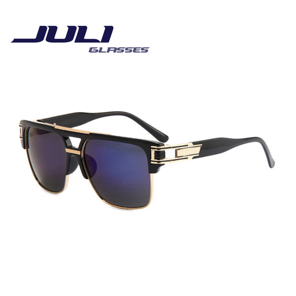 wholesale-fashion men square sunglasses women classic brand designer sunglasses double-bridge shades uv400 oculos de sol feminino 6692b