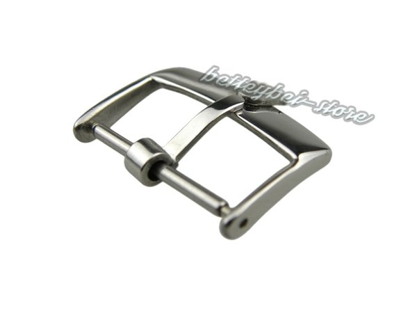 top popular 18mm Support Wholesale New watch band pin buckle Silver polished High quality Solid Stainless Steel for strap brand crown 2019