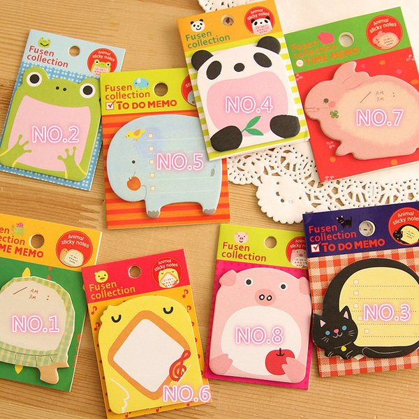best selling Cute Sticky Notes planner Novelty Mini Annimal memo pads Paper Sticker note Kawaii student stationery Office supply BLT02