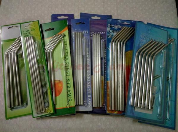 Cannucce e spazzole Tazze Refrigeratori Bar per hotel in acciaio piegato Cannucce dritte curve.