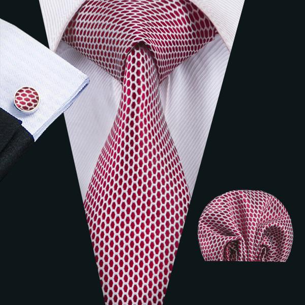 ineguagliabile miglior valore retrò Acquista Cravatte Da Uomo Classiche Di Seta Cravatte Rosse Cravatte Da Uomo  Con Collo A Punto Cravatte Gemelli Da Taschino Con Manichini Jacquard ...