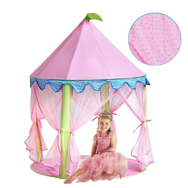 Princess Castle Gioca Tent Teepee for Girls Indoor Outdoor Use, rosa