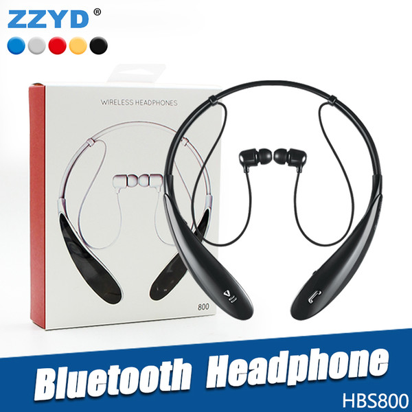 top popular ZZYD For HBS800 Bluetooth Headphone Wireless Earphone sport bluetooth 3.0 Headset Handsfree in-ear headphone For Samsung S8 Note 8 Any Phone 2020