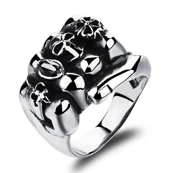Stainless Steel Man Party Ring Personality Skeleton Design Metal Men's Friendship Punk Jewelry Gift Fashion Skeleton Man Rings Classical 465