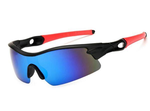 Low Price Polarized Fashion Sunglasses Men Sports Half Frame Siamese Resin Lenses Sun Glasses 5 Color Dazzle Colour Eyeglasses A+++