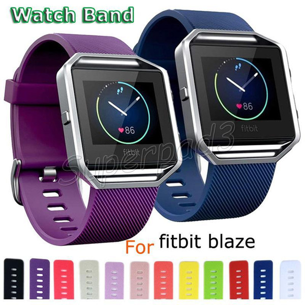 For Fitbit Blaze Smart Watch Silicone Wearable Strap Band Wrist Bands Watchband 14 Colors Small Large Size Watch Band Fast DHL 200pcs
