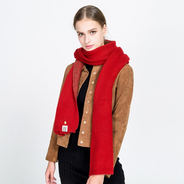 wholesale Hot sale 2017 New Women's Lady's Winter Blanket Scarf High-grade Long thick Cashmere scarf Pashmina 6 colors for choose