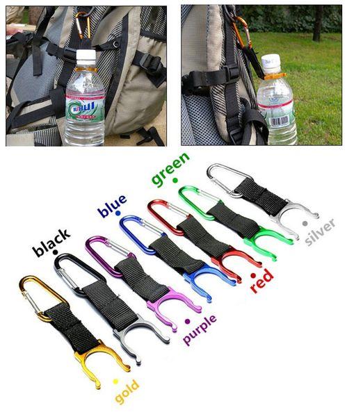Al por mayor-libre del envío 1pc camping mosquetón botella de agua hebilla gancho clip para acampar yendo de excursión herramientas de viaje # 1219 B1