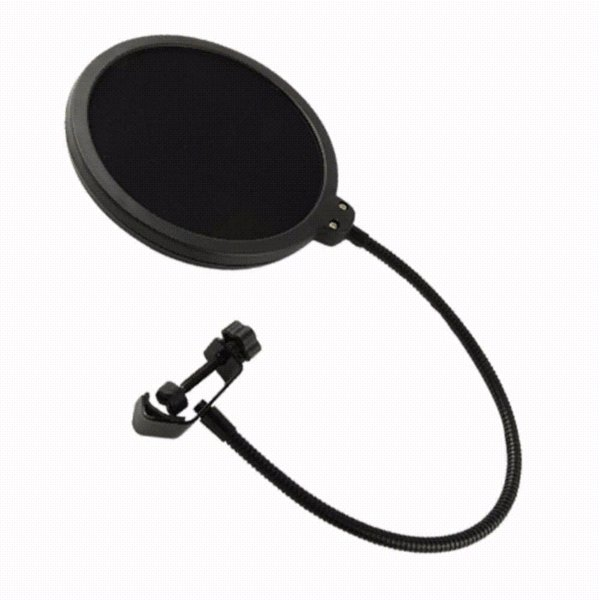Microphone Pop Filter Singing Windscreen Shield Pod Cast Dual Double Layer Mask Anti Mic Metal Studio Pop Filter
