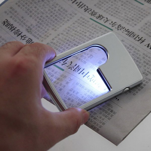 Wholesale- 3x 6x Magnifier Magnifying LED Light Jewelry Loupe For reading Good use Selling hot sales